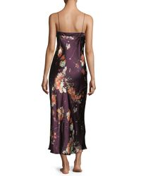 Meng - Multicolor Floral-print Sleeveless Silk Nightgown - Lyst