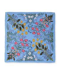 Gucci Multicolor New Flora Silk Twill Scarf