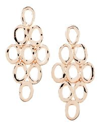 Ippolita Pink Rose Gold Open Cascade Post Earrings