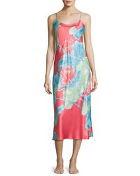 Natori Multicolor Lian Long Satin Nightgown