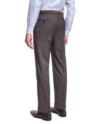 Brioni Brown Micro Tic Trouser for men
