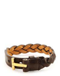 Tom Ford - Brown Nashville Men's Braided Leather Bracelet for Men - Lyst