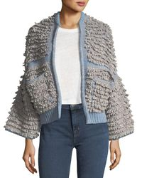 MiH Jeans - Blue Alice Oversized Cardigan Sweater - Lyst