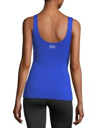 Monreal London | Blue Victory Scoop-neck Fitted Performance Tank | Lyst
