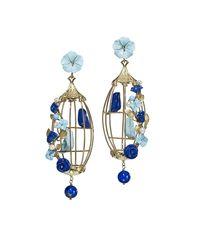 Of Rare Origin - Blue Lovebirds Lapis & Turquoise Drop Earrings - Lyst