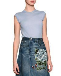 Dolce & Gabbana - Blue Crewneck Shell Sweater - Lyst