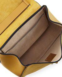 Chloé - Black Drew Mini Chain Saddle Bag - Lyst