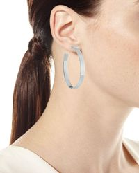 Jennifer Zeuner - Metallic June Hoop Earrings - Lyst