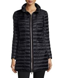 Moncler - Black Quilted Four-pocket Down Coat - Lyst
