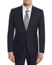 Tom Ford Blue Men's O'connor Two-piece Solid Wool Suit for men