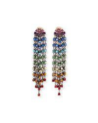 Oscar de la Renta - Multicolor Swarovski Crystal Cascade Waterfall Clip-on Earrings - Lyst