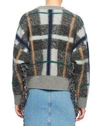 Stella McCartney Gray Plaid Oversized Sweater