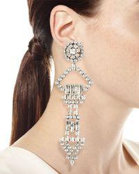 Saint Laurent - Metallic Oversized Crystal Smoking Earring - Lyst