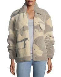 Rag & Bone - Natural Jake Shearling Camouflage Jacket - Lyst