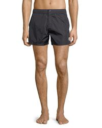813a50fd9 Lyst - Moncler Swim Trunks With Contrast Piping Navy in Blue for Men