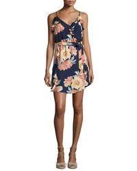 Joie | Blue Foxglove Floral-print Silk Wrap Dress | Lyst