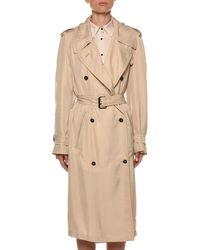Tom Ford Natural Belted Double-breasted Trench Coat