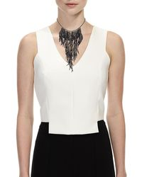 Brunello Cucinelli | Black Beaded Waterfall Necklace | Lyst