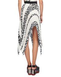 Proenza Schouler - Multicolor Asymmetric Pleated Cloque Midi Skirt - Lyst