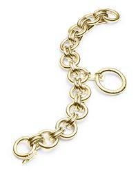 Eddie Borgo - Metallic O-ring Charm Chain Bracelet - Lyst