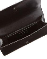 Saint Laurent | Black Kate Monogram Quilted Clutch Bag | Lyst