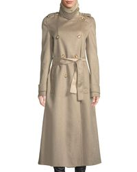 Gabriela Hearst - Brown Double-breasted Belted Lightweight Cashmere Trench Coat - Lyst