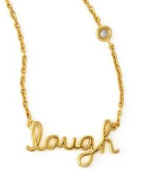 Shy By Sydney Evan - Metallic Laugh Pendant Bezel Diamond Necklace - Lyst