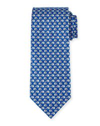 Ferragamo - Blue Elephant & Cotton Candy Silk Tie for Men - Lyst