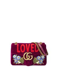 Gucci Purple Gg Marmont 2.0 Small Loved Shoulder Bag