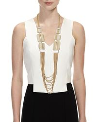 Lafayette 148 New York - Multicolor Marble Block Multi-strand Necklace - Lyst