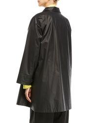 Eskandar - Black A-line Swing Jacket - Lyst