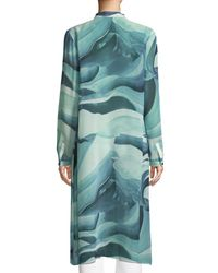 Lafayette 148 New York - Blue Auden Rio Chama Silk Duster Coat - Lyst