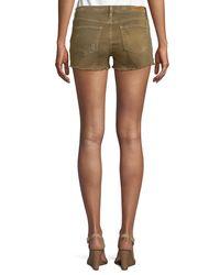 Etienne Marcel Blue Distressed Denim Shorts