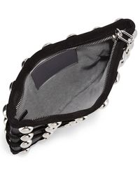 Alexander Wang | Black Roxy Dome Stud Cage Pouch Bag | Lyst