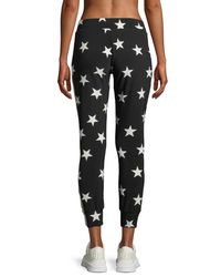 Norma Kamali - Black Star-print Side-stripe Jogger Pants - Lyst