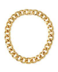 Fallon - Metallic Armure Extra-large Curb Chain Collar - Lyst