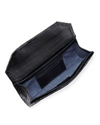 Nancy Gonzalez - Black Crocodile Envelope Clutch Bag - Lyst