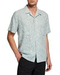 Vince Multicolor Lotus Leaf Cabana Shirt for men