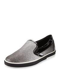 Jimmy Choo | Gray Grove Men's Glittered Slip-on Sneaker for Men | Lyst