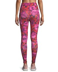 Kate Spade - Multicolor Electric Rose-print Studio Leggings - Lyst