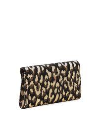 Christian Louboutin - Multicolor Vero Dodat Metallic Leopard-print Clutch Bag - Lyst