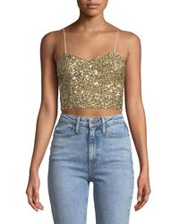fb0f345aaa8d4 Alice + Olivia. Women s Archer Embellished Cropped Cami Top