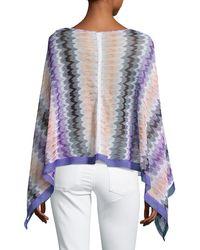 Missoni - Purple Bateau-neck Zigzag Poncho - Lyst