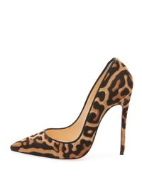 Christian Louboutin Multicolor So Kate Leopard-print Red Sole Pumps