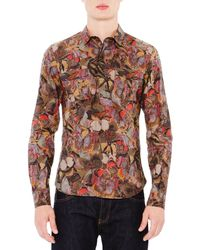 Valentino Multicolor Butterfly Print Shirt for men