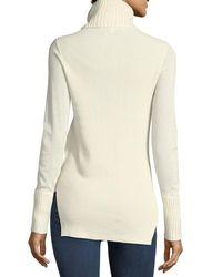 Veronica Beard - White Asa Long-sleeve Turtleneck Cashmere Sweater - Lyst