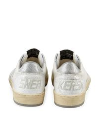 Golden Goose Deluxe Brand White Ball Star Leather Low-top Sneakers for men