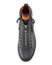 Bally - Black Men's Hekem Patchwork High-top Sneakers for Men - Lyst