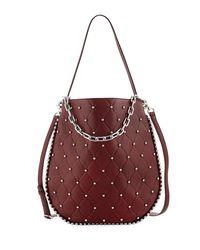 Alexander Wang Red Roxy Refined Pebbled Hobo Bag