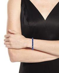 Sydney Evan - Blue 8mm Lapis Beaded Bracelet With Turquoise & Diamond Bezel Station - Lyst